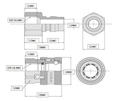 高圧ホースやらかめ10メートル耐圧210K3分(3/8ワンタッチカプラー付)業務用高圧洗浄機用高圧ホース塗装洗車ワイヤー入り高圧ホースシンショー清和産業フルテックワグナーアサダ