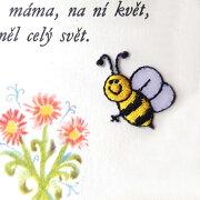 アップリケ ワッペン ミツバチ にこにこ