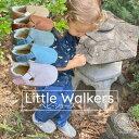 【リトルウォーカー】ファーストシューズ 女の子 男の子 ベビーシューズ ベルクロ マジックテープ 幼児用靴 幼児靴 子供用靴 靴 シューズ ベビー キッズ おしゃれ デザイン カジュアル デニム柄 ハードラバー ナチュラル