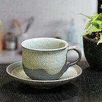 分信楽焼咖啡杯/淡綠賒帳咖啡碗盤子/陶器咖啡/碗盤子/陶瓷器/器/咖啡廳啤酒杯/碗盤子/信樂/以及多達和服/土的/餐具/茶杯/啤酒杯茶杯/啤酒杯/shigaraki