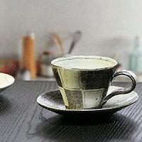 多達信楽焼咖啡杯/黑白格相間的花紋咖啡碗盤子/陶器咖啡/器/漂亮的/陶瓷器/咖啡廳啤酒杯/碗盤子/信樂/土的/餐具/以及和服/茶杯/啤酒杯茶杯/啤酒杯茶杯/打扮