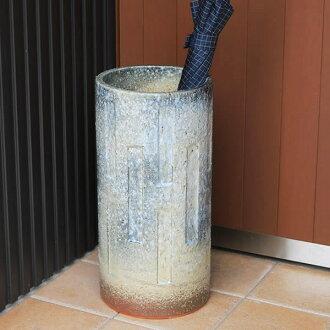 斷絶傘架陶器傘架信楽焼kasatate日式傘架傘架罐子shigaraki kasatate以及和服傘架傘陶器門口花瓶花瓶爐奇怪的傘架[kt-0158]