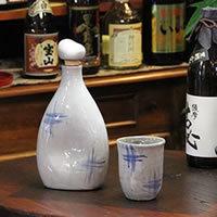 可口的水、 燒酒、 清酒、 長崎陶瓶 ! 感覺到離子瓶 (藍色吻痕) 和嘗的不同。 陶瓷儲物罐 / 保存瓶 / 陶伺服器 [ss-0071]