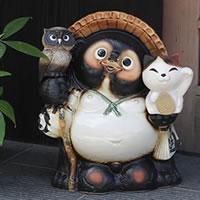 【送料無料】信楽焼たぬき縁起物タヌキ/陶器タヌキ/たぬき置物/やきもの/しがらきやき/焼き物/…