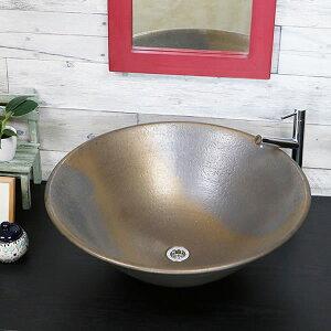 金彩ソリ型(特大)手洗い鉢