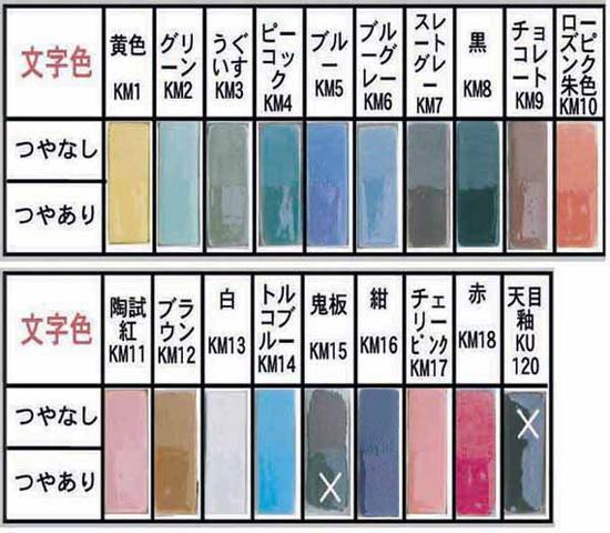 凸字陶器表札草子K120