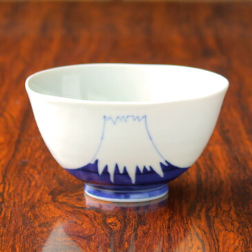 【波佐見焼】【陶房青】【磁器】【普段使いの食器】【上質な器】【富士山】染付富士山 飯碗