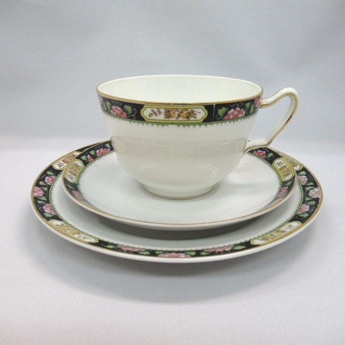 アンティーク デミカップ&ソーサー Noritake オールドノリタケ 英国輸出用 1906-1925年頃 ヴィンテージ 食器 陶磁器 キッチン雑貨 テーブルウェア ティ—セット 茶器