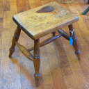 ヴィンテージ 家具 椅子 インテリア雑貨 木製 チェア アンティーク オールドパイン カントリー風 スツール 1900年頃