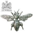ピンバッジ(ラペルピン/ピンブローチ/ピンズ)スーツ|メンズ・レディース ミツバチ・ハチ(蜂)|イギリス製 AEW社 ピューター/錫 繁栄の象徴[メール便OK]