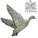 ピンバッジ(ラペルピン/ピンブローチ/ピンズ)スーツ メンズ・レディース 鴨(かも)・鳥 イギリス製 AEW社 ピューター/錫 野鳥 [メール便OK]