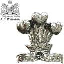 ピンバッジ(ラペルピン/ピンブローチ/ピンズ)スーツ|メンズ・レディース スリーフェザー(プリンス・オブ・ウェールズの紋章)|イギリス製 AEW社 ピューター/錫 [メール便OK]