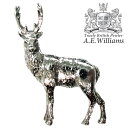 ピンバッジ(ラペルピン/ピンブローチ/ピンズ)スーツ|メンズ・レディース 牡鹿(しか) イギリス製 AEW社 ピューター/錫 シカ・鹿 [メール便OK]