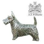 ピンバッジ(ラペルピン/ピンブローチ/ピンズ)スーツ メンズ・レディース スコティッシュ・テリア(犬) イギリス製 AEW社 ピューター/錫 スコッティ/テリヤ/いぬ [メール便OK]