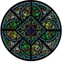 ステンドグラス シール アミアン大聖堂 1枚入り インテリア 窓 ガラス用 シート フィルム ステッカー 教会 バラ窓 世界遺産 英国製 メール便OK