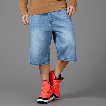 メンズ デニムショーツ ゆったり 七分丈 バギーパンツ ジーパン 極太 カーゴパンツ ワイドパンツ デニム ショートパンツ ミディアムパンツ ハーフパンツ ジーンズ スポーツ デニムパンツ 春服 夏服 大きいサイズ ストリート ヒップホップ系