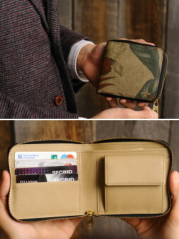 ラウンドファスナー折り財布