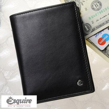 Esquire 縦型 二つ折り財布 小銭入れあり Harry Hochformatborse ブラック 0469-49 メンズ 大人 男性 本革 レザー 黒 ドイツ製 ブランド BOX型 小銭入れ ボックス型 カード入れ 多い