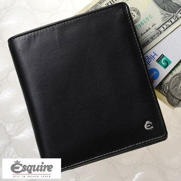 Esquire 縦型 二つ折り財布 小銭入れあり Harry Hochformatborse ブラック 0479-49 メンズ 大人 男性 本革 レザー 黒 ドイツ製 ブランド BOX型 小銭入れ ボックス型 カード入れ 多い