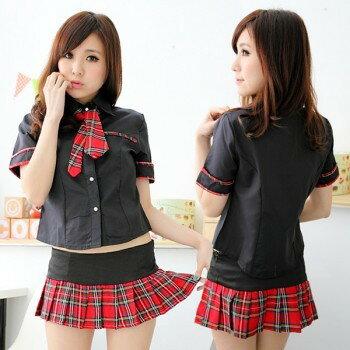 コスプレセーラー服制服女子高生半袖黒赤ds379衣装コスチュームコスプレ衣装
