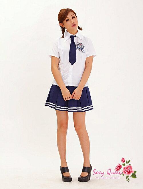 制服コスプレブレザー衣装コスチューム女子高生高校生ハロウィンミニスカートネクタイブレザーコスチューム衣装白紺半袖衣装コスチュームテイストセクシー