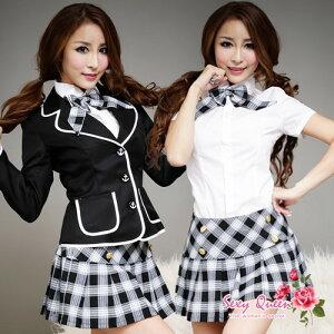 グレーチェックがCOOL★女子高生コスプレ・ブレザー制服