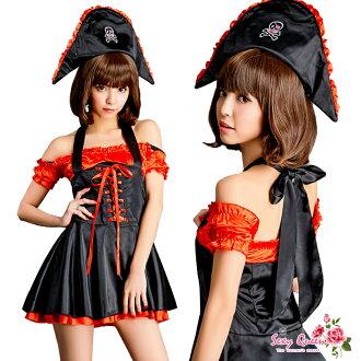 浮腫乳頭勞損萬聖節海盜 cosplay 服裝海盜海盜服裝服裝成人連體海盜帽帽子黑色紅色味道性感萬聖節角色扮演的服裝和角色扮演因為 cosplay 服裝婦女萬聖節 COS