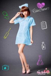 コスプレナース大きいサイズコスチューム水色blueコスプレ衣装ナース服セクシー衣装ハロウィン看護婦制服半袖女医白衣大人ナースコスプレ仮装衣装ワンピース