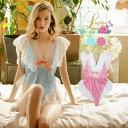 セクシー ランジェリー テディ テディランジェリー ベビードール セクシーランジェリー レース カワイイ babydoll sexy lingerie レディース 女性下着 ブルー ピンク SEXYランジェリー 柔らかい ロンパース インナー 通販