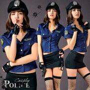 コスプレポリスコスプレ衣装セクシー制服ミニスカポリス帽子警察ハロウィンコスチューム衣装ミニスカート大人costume女性婦人警官仮装衣装