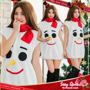 雪だるまコスプレクリスマスコスチュームクリスマスコスコスプレ衣装仮装レディース女性用大人ワンピ?スサンタコスプレパーティーふわもこイベント雪ミニ帽子ヘアピン