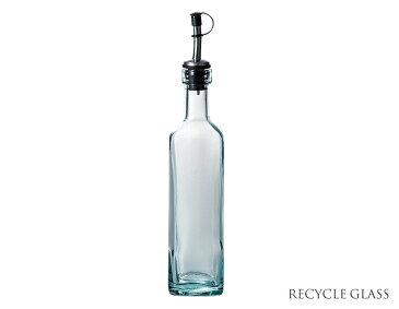 リサイクルガラス オイルボトル400cc【容量400cc・高27cm・ガラス製・保存ボトル・オイル詰め替え用ボトル・アンティーク風・インテリア・雑貨・ECO・エコ・RecyleGlass・スペイン】【trys光】