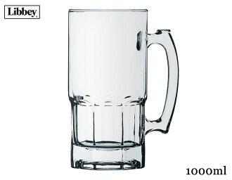 BEER大啤酒杯5671[容量1000ml、啤酒大啤酒杯·啤酒玻璃杯·啤酒杯·玻璃·墨西哥產][trys wa]