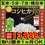 ■新米■29年産 宮城県産 コシヒカリ 30kg!玄米,5分,7分,精白米(精米時重量約1割減)【米】