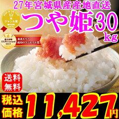 27年 宮城県産 つや姫 30kg 産地直送 玄米,5分,7分,精白米(精米時重量約1割減)【…