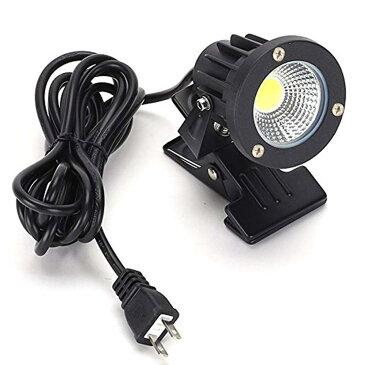白色 昼光色 LEDクリップライト 小型 (PSE)規格品 防雨 防水型 5W (40W相当) スイッチなし コード長3m 看板用・黒板用照明/店舗看板用/店頭看板/LEDライト/電気スタンド/デスクスタンド/アームライト/ピッコロライト/アウトドア・エクステリアライト あす楽