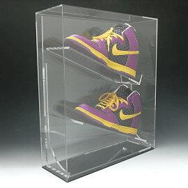 シューズ、スパイク記念コレクションケース28〜30センチハイカット用アクリルケースディスプレイケースアクリルボックスシューズケーススパイクケースシューズ収納BOX靴収納ケース