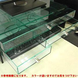 キーボード保護カバー2段引出しスモール&ミドルタイプベース透明側板ブラック【キーボード】【パソコン】【アクリル】パソコン用キーボード保護カバーホコリやペット、幼児からキーボードを守ります