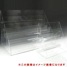 アクリルひな壇什器W600×H180/450×D3506段(アクリルケースクリアケースディスプレイケースひな段ケースショーケースディスプレイ透明クリアアクリル樹脂アクセアクセサリーホビーケース収納展示用)