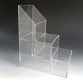 アクリルひな壇ケースW104×H200×D158(アクリルケースクリアケースディスプレイケースひな段ケースショーケースディスプレイ透明クリアアクリル樹脂アクセアクセサリージュエリーホビーケース化粧品コスメ収納プラスチック箱透明展示用)