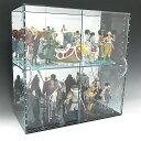アクリル ガラス色 コレクションラック W600×H300×D200 背面ミラー 引き戸タイプアクリル板 アクリルケ...