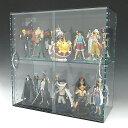 コレクションラック アクリル ガラス色 W600×H300×D200 引き戸タイプアクリル板 アクリルケース 物入れ ...
