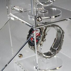 時計ショーケース(時計スタンド3個込み)