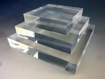 アクリルスクエアステージW150mm×D150mm×H10mm【アクリル板】【アクリル素材】【アクリルステージ】【アクリル台】