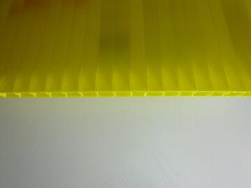 プラスチック段ボール-イエローー-厚さ(5ミリ)-断面図