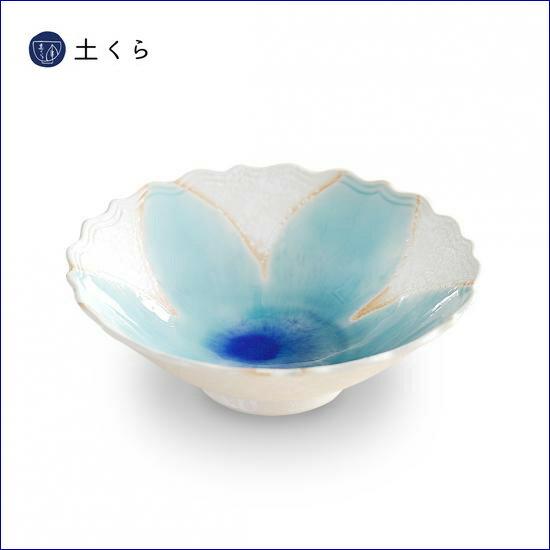 白マット青花 18cm鉢【伊万里焼】