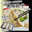 鹿児島県産黒豚100%使用 【黒豚餃子 20g×15個入】 ...