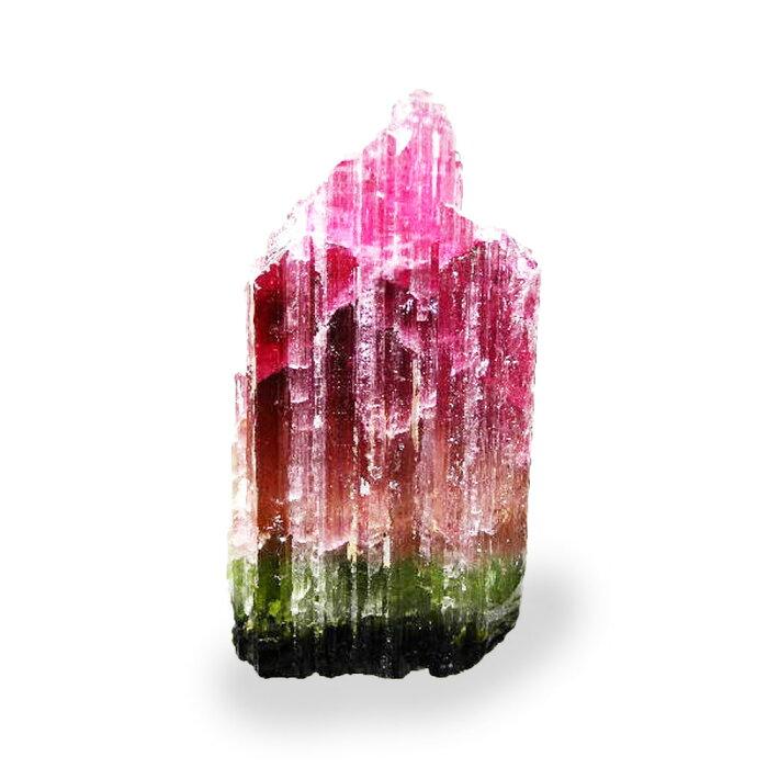【よりどり10%OFF】ウォーターメロントルマリン バイカラートルマリン 柱状結晶 原石 10月 誕生石 TOURMALINE-1000