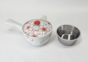 錦桜 茶器セット SS茶こし 急須 湯呑 2個 さくら 磁器 スーパーステンレストレーナー 来客用 贈り物 プレゼント ギフト はさみ焼 食器 送料無料