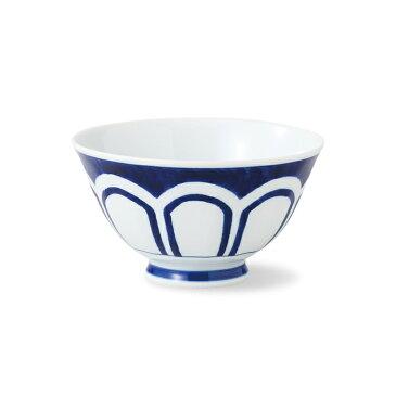 波佐見焼 インディゴクラシック 菊割 面取軽量飯碗 325ml お茶碗 ごはん茶碗 磁器 電子レンジ使用可 HASAMI おしゃれ